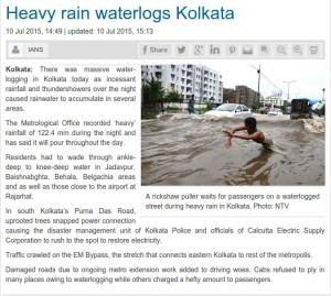 Kolkata-water logging-NTV